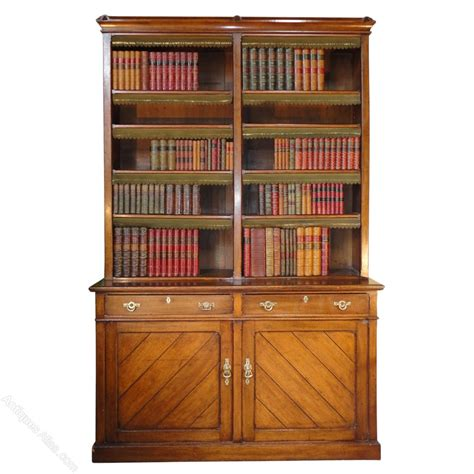 How To Put Cornice Up Victorian Gothic Oak Library Bookcase Antiques Atlas