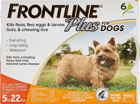 frontline plus for dogs frontline plus flea tick treatment for dogs up to 22 lbs 6 treatments chewy
