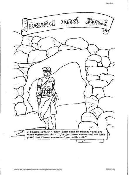 coloring pages about king david king saul and david coloring pages coloring home