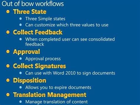 sharepoint 2010 collect feedback workflow configuring workflows in sharepoint 2010