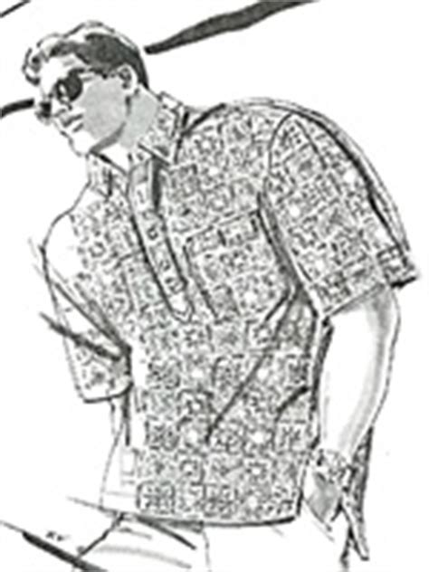 sewing pattern aloha shirt vintage uncut men s pullover aloha shirt pattern sizes