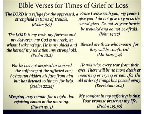 Bible Verses For Times Of Grief Or Loss What Really