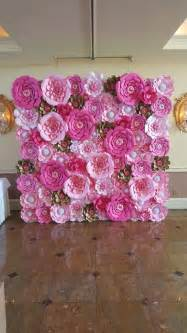 pink paper decorations 25 best ideas about paper flower wall on