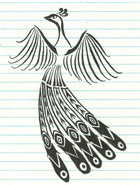 tribal peacock tattoo ideas design