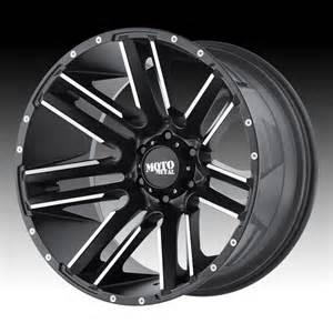 Truck Wheels Moto Metal Moto Metal Mo978 Razor Black Machined Custom Wheels Rims