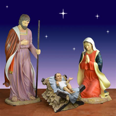 3 piece holy family christmas outdoor set outdoor holy family 3 set christmasnightinc