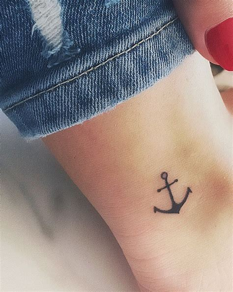 small anchor tattoo on ankle best 25 anchor ankle ideas on small