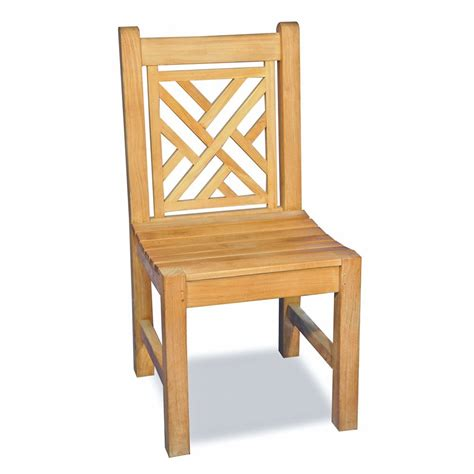 Teak Outdoor Dining Chairs Regal Teak R077a Chippendale Teak Armless Chair The Mine