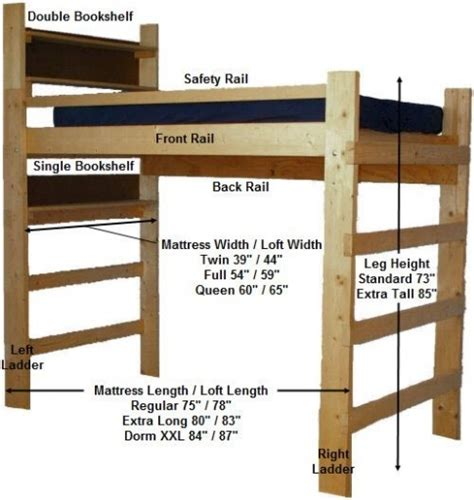 15 collection of college loft beds