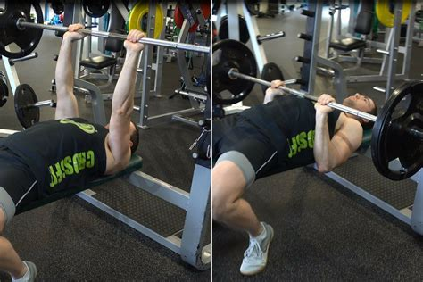 types of bench press bars how to flat barbell bench press ignore limits