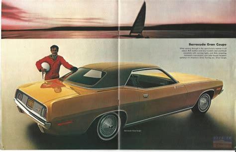 leaflet design plymouth 1971 plymouth barracuda brochure e bodies