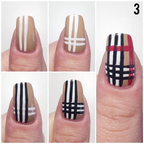 tutorial nail art burberry burberry nail art gallery step by step tutorial photos