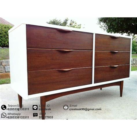 Meja Tv Pendek meja bufet retro putih createak furniture