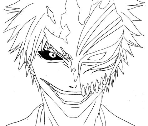 12 images of bleach hollow mask drawings coloring pages