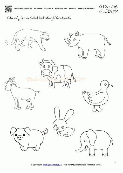 printable coloring pages domestic animals farm animals free printable worksheets best images of