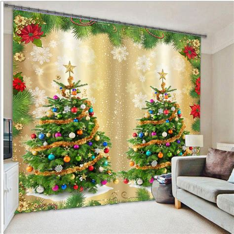 christmas curtains for living room aliexpress com buy 3d christmas curtains for living room