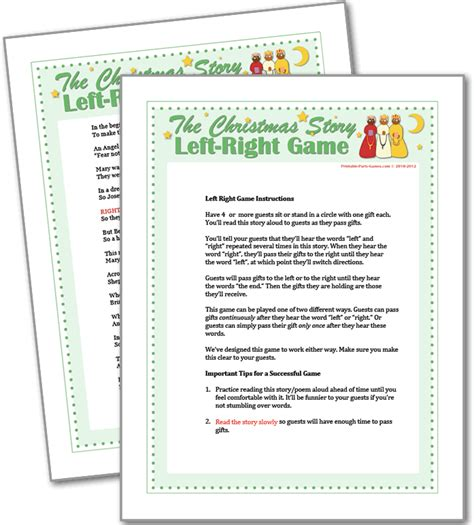 the christmas story left right game christmas games for