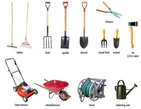 garden tools visual vocab everyday actions weather wildlife just for fun pinterest
