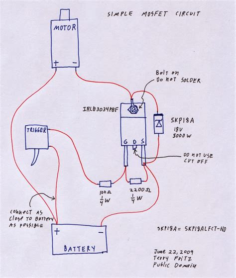 mosfet diagram unconventional airsoft how to make a basic mosfet switch