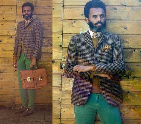 8o s dualleh abdulrahman omwork tweed vintage pink brown tie