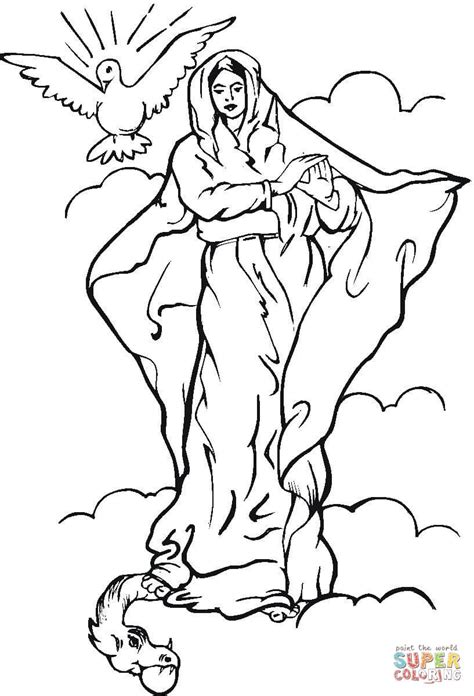printable coloring pages virgin mary virgin mary coloring pages coloring home