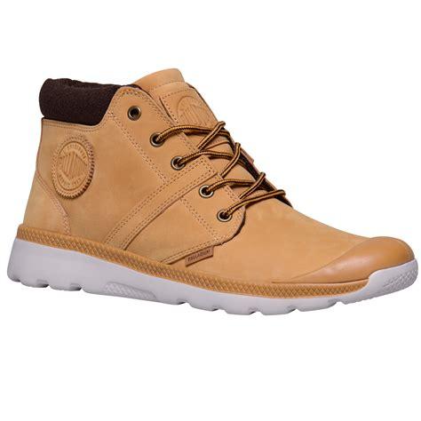 retro mens boots palladium mens pallaville hi cuff leather shoes chukka