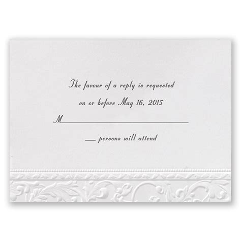Wedding Invitations Response Cards by Vintage White Response Card Invitations By