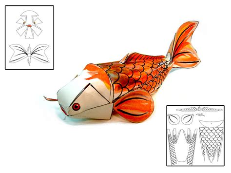 Papercraft Fish - koi fish papercraft by risingkirin on deviantart