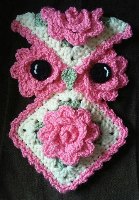 pattern by etsy reviews crochet rose owl potholder pattern only