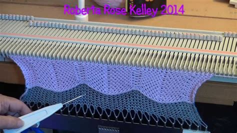 pattern machine you tube machine knit chevron youtube