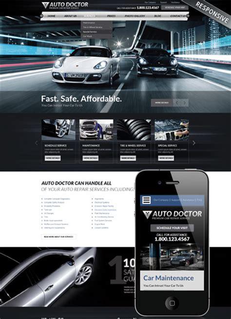 Car Repair Service Wordpress Theme Best Website Templates Car Service Website Template