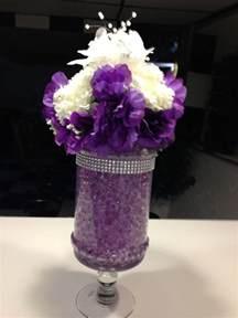 purple centerpieces ideas wedding centerpiece with purple water metallic