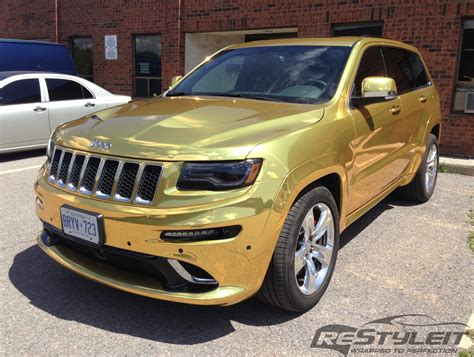 jeep gold 2014 jeep grand cherokee srt8 wrapped in gold chrome