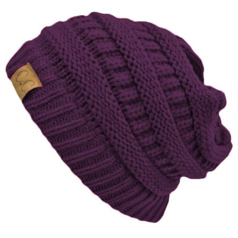 thick slouchy knit oversized beanie cap hat purple thick slouchy knit oversized beanie cap hat pet