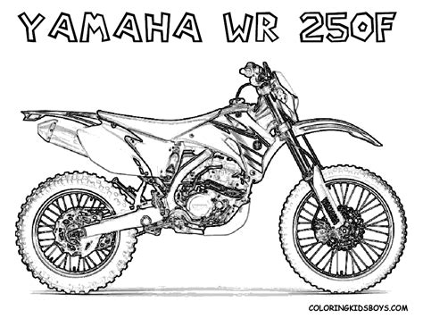 card dirt bike coloring templates print out coloring pages yamaha wr250f dirt bike for