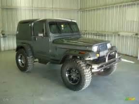 1990 charcoal gray metallic jeep wrangler laredo 4x4