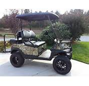Camo Lifted Golf Carts Cart  Club Car Triad
