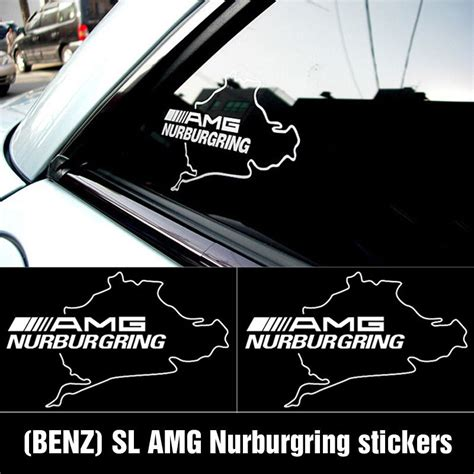 sticker nurbugring amg mercedes product amg nurburgring mercedes c55 clk e55 cls63