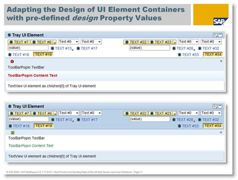 sap ui layout matrixlayout best practices for building state of the art web dynpro
