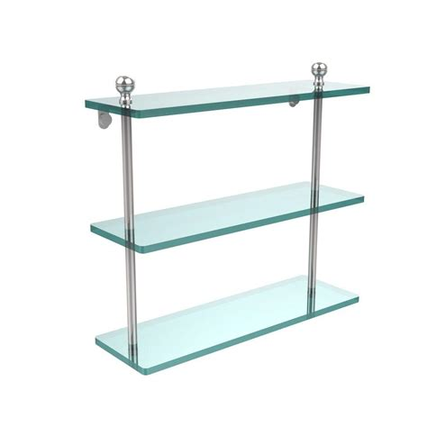 How Much Weight Can A Glass Shelf Hold by Kraus Aura Bathroom Shelf With Railing In Chrome Kea