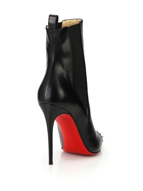 louboutin boots christian louboutin banjo studded leather stiletto boots