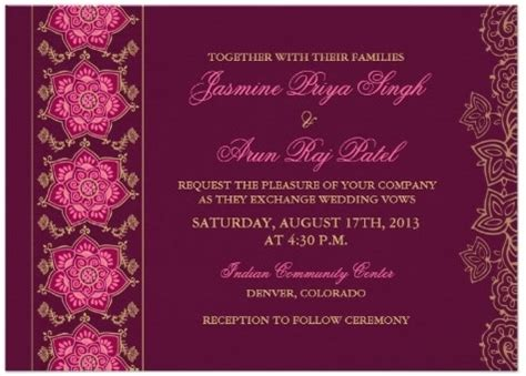 indian wedding card templates photoshop free hindu indian wedding invitations eastern fusion designs