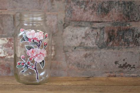 How To Decoupage Glass Jars - decoupage techniques how to decorate a glass jar