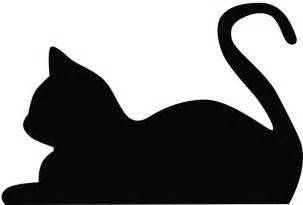Cat Silhouette Template by Cat Outline Cliparts Co