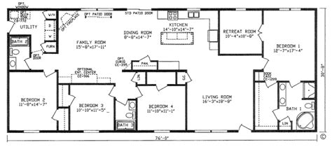 4 bedroom 3 bath house plans homes floor plans
