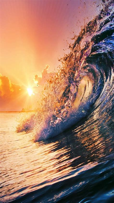 wallpaper for iphone 6 wave golden surfing wave sunset iphone 6 wallpaper iphone
