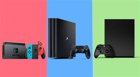 ps4 console vs xbox one playstation 4 pro vs project scorpio vs nintendo switch