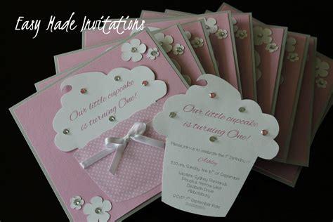 Handmade Invitations cupcake handmade invitations card ideas