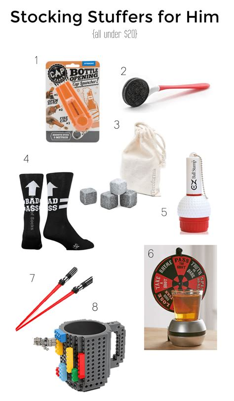 stocking stuffer ideas for him gifts follow the ruels