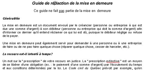 Modèle De Lettre De Mise En Demeure Loyer Impayé Le R 233 Seau Juridique Du Qu 233 Bec Le Portail Du Droit Au Qu 233 Bec